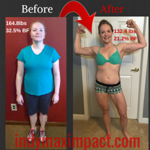 Lauren Pothier Before & After (Zionsville Bootcamp)