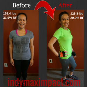 Michelle Carmona Before & After (Zionsville Bootcamp)